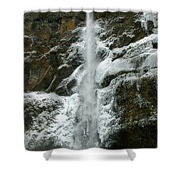 Upper Multnomah Falls Ice Shower Curtain