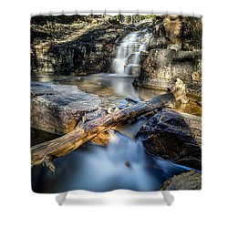Upper Provo River Falls Shower Curtain