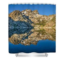 Upper Sardine Lake Panorama Shower Curtain