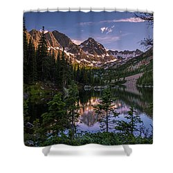 Upper Slate Lake Evening Glow Shower Curtain