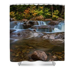 Upper Swift River Falls In White Mountains New Hampshire Shower Curtain