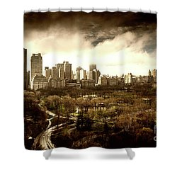 Upper West Side Of New York In Spring Shower Curtain