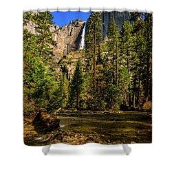 Upper Yosemite Falls From Yosemite Creek Shower Curtain