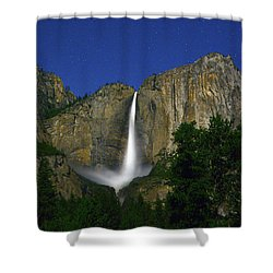 Upper Yosemite Falls Under The Stairs Shower Curtain