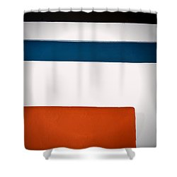 Upright Flag Shower Curtain