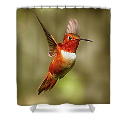 Upright Shower Curtain