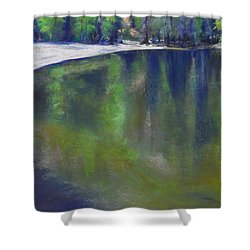 Upriver View Shower Curtain