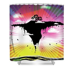 Ups And Downs Shower Curtain
