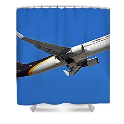 Ups Boeing 767-34af N332up Phoenix Sky Harbor January 12 2015 Shower Curtain by Brian Lockett