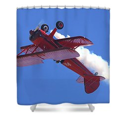 Upside-down Vicky Benzing Shower Curtain