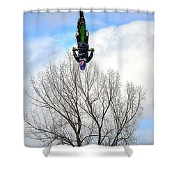 Shower Curtain featuring the photograph Upside Down And All Around by Barbara Dudley