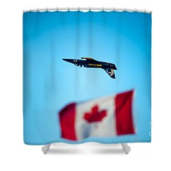 Upside Down Manoeuvre  Shower Curtain