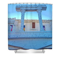 Upside Down White House Shower Curtain