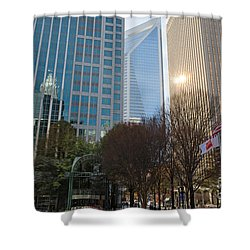 Uptown Charlotte, North Carolina Shower Curtain by Kevin McCarthy