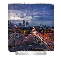 Uptown Charlotte Rush Hour Shower Curtain