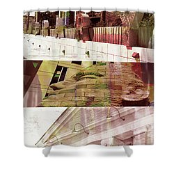 Shower Curtain featuring the photograph Uptown Library With Color by Susan Stone
