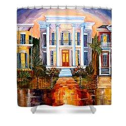Uptown Tonight Shower Curtain by Diane Millsap