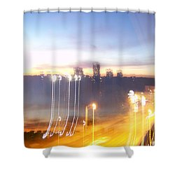 Uptown Toronto - Friday Night Shower Curtain by Serge Averbukh