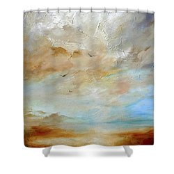 Upwardly Mobile Shower Curtain