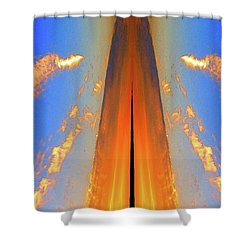 Upwards Two  Shower Curtain by Lyle Crump