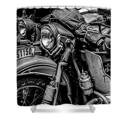 Ural Patrol Bike Shower Curtain by Anthony Citro