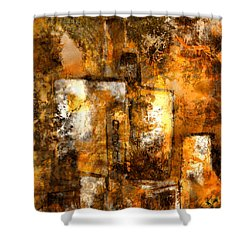 Shower Curtain featuring the mixed media Urban #3 by Kim Gauge