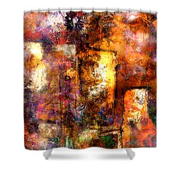 Shower Curtain featuring the mixed media Urban #4 by Kim Gauge