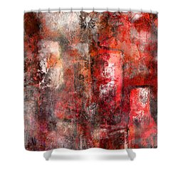 Shower Curtain featuring the mixed media Urban #5 by Kim Gauge