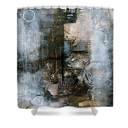 Urban Abstract Cool Tones Shower Curtain