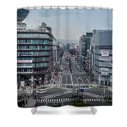 Urban Avenue, Kyoto Japan Shower Curtain