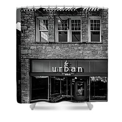 Urban Black And White Shower Curtain