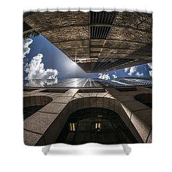 Urban Canyon Sunburst Shower Curtain