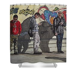 Urban Connection Shower Curtain by Kim Selig