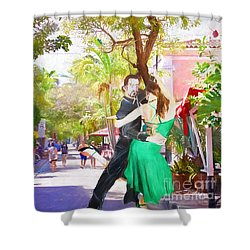 Shower Curtain featuring the painting Urban Dancers  by Judy Kay