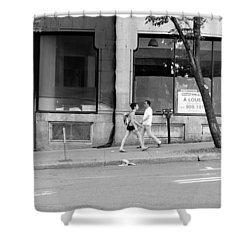 Shower Curtain featuring the photograph Urban Encounter by Valentino Visentini