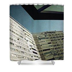 Urban Geometry Shower Curtain by Carlos Caetano