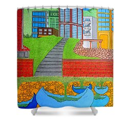 Urban Growth Shower Curtain