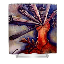 Urban Headaches Shower Curtain