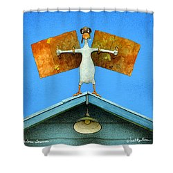 urban Icarus... Shower Curtain by Will Bullas