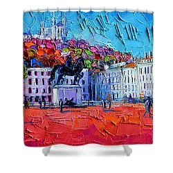 Urban Impression - Bellecour Square In Lyon France Shower Curtain