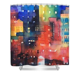 urban landscape 8 - Shadows and lights Shower Curtain by Alessandro Andreuccetti