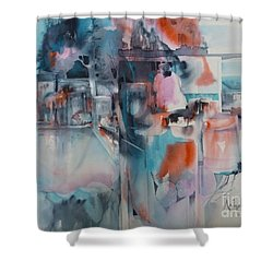 Urban Layers Shower Curtain by Donna Acheson-Juillet
