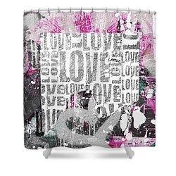 Urban Love Shower Curtain