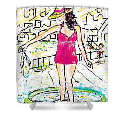 Urban Poolside Shower Curtain