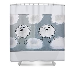 Shower Curtain featuring the photograph Urban Rain Clouds by Art Block Collections