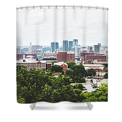 Shower Curtain featuring the photograph Urban Scenes In Birmingham  by Shelby Young