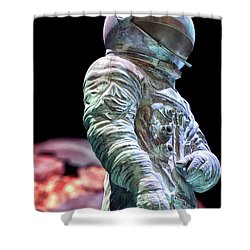 Urban Spaceman Shower Curtain