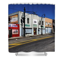 Urban Street Life Shower Curtain