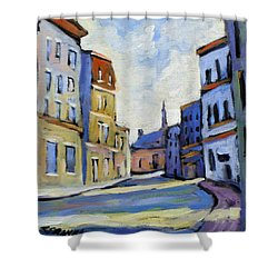 Urban Streets Shower Curtain by Richard T Pranke