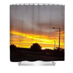 Urban Sunset Shower Curtain